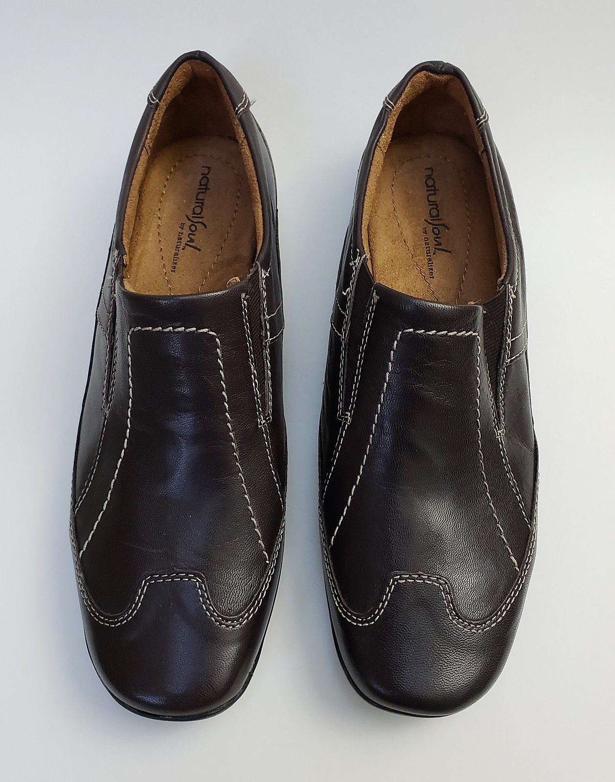 4421b544c0d3 Natural Soul Naturalizer Shoes Flats Brown Slip On Flor Womens Size 9 M