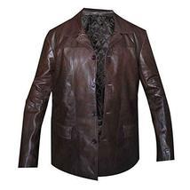24 S8 Jack Bauer Men's Brown Biker Leather Jacket/Coat image 1