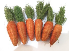 Easter Natural Looking Carrots Bowl Basket Filler Decorations Qty of 6 - $13.50