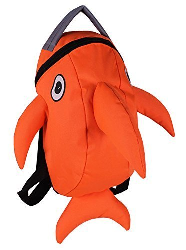 Lovely Dolphin Knapsack Kindergarten School Bag, Orange(2319 cm)