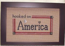 Hooked On America charms + cross stitch chart Handblessings - $11.70