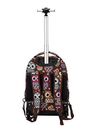 "Rockland 19"" Rolling Backpack, Owl"