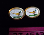 Cuff links pheasant hand painted ovals 01 thumb155 crop