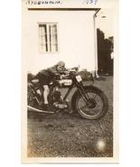 Snapshot Photo 1929 Little Boy On Raleigh Motor... - $6.00