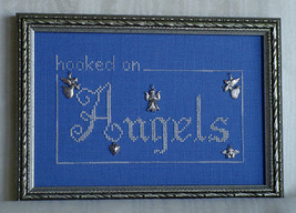 Hooked On Angels charms + cross stitch chart Handblessings - $9.00