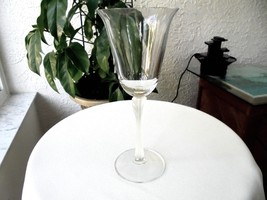 """Set of 2 Mikasa Deco Frosted Stem Wine Glasses 8 3/8"""" Tall - $17.82"""