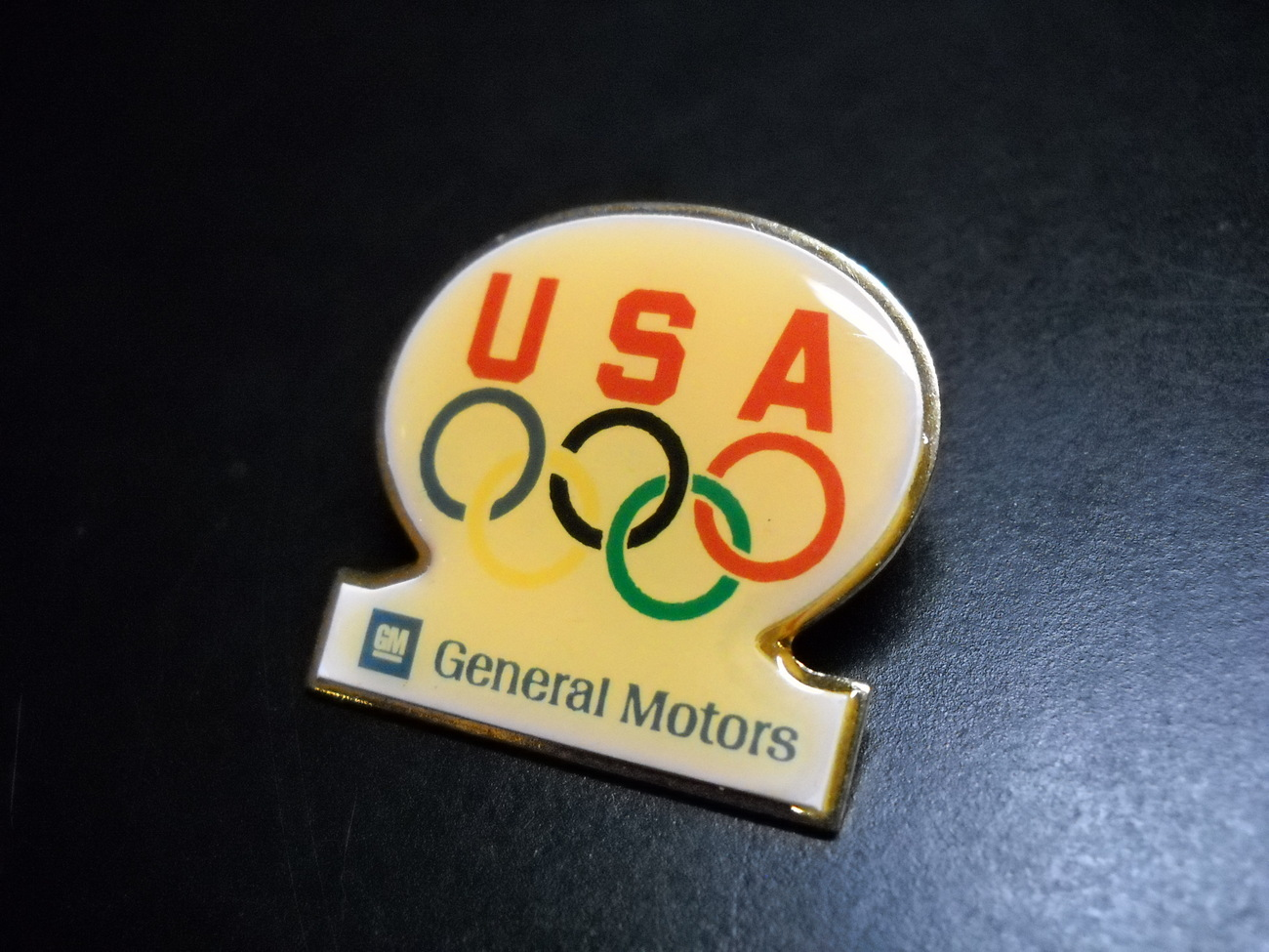Pin olympic usa general motors yellowish 01
