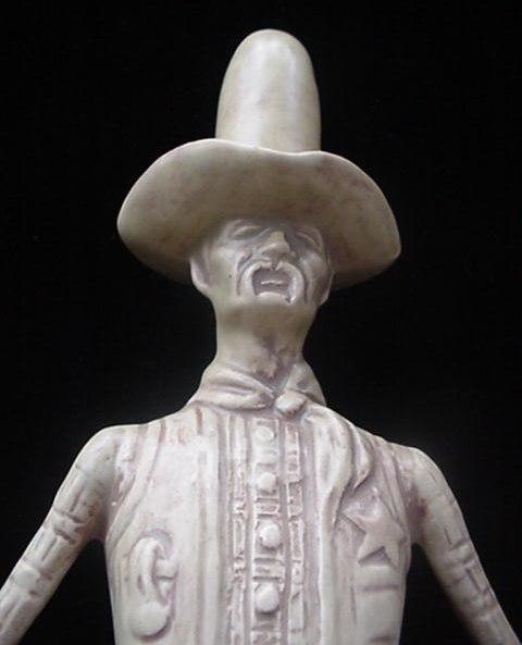 Maddux Ca Art Pottery Tall Marshal Figurine Western Cowboy