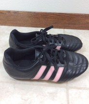 Adidas Youth Goletto II TRX FG Jr. Soccer Cleats Size 4 Black/Pink G14052 - $11.29