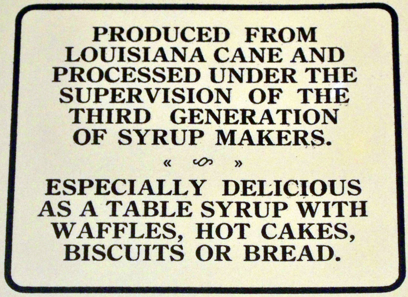 Vintage Longwood Plantation's Syrup Label, 1920's