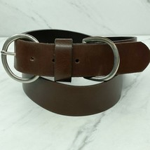 Brown Italian Leather Belt Size XL Made in USA Womens - $13.96