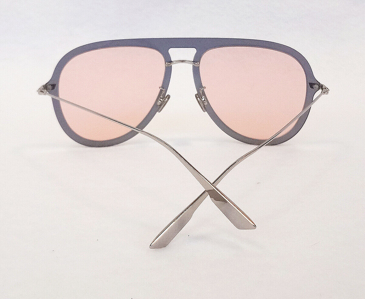 Dior Women's Sunglasses DIOR ULTIME1 XWL Red Gold Coral 145 Aviator ITALY - New!