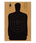 "24 PACK Full Size Standard B-27 Cardboard Target Silhouette (Black) 24"" ... - $62.32"