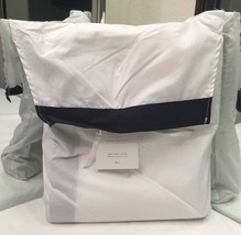 Restoration Hardware Italian Bold Border Duvet Cover Cotton Twin Navy NE... - $139.99