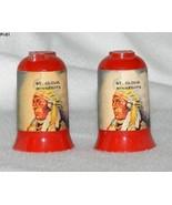 Vintage Indian Face Plastic Souvenir St. Cloud, MN Salt Pepper Shakers  - $12.99