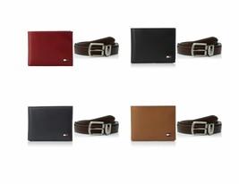 Tommy Hilfiger Men's Leather Passcase Wallet & Dress Belt Bundle Gift Set