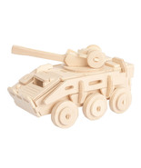 Armored Vehicle 3D Wooden Puzzle DIY 3 Dimensional Wood Build It Yoursel... - $6.99