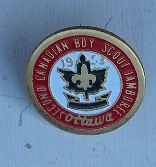 2nd Canadian Boy Scout Jamboree Pin Ottawa 1953 Original