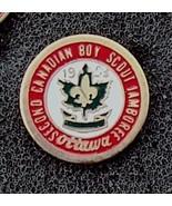 2nd Canadian Boy Scout Jamboree Pin Ottawa 1953 Original - $10.99