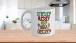 Stressed Blessed And Yoga Obssessed Home Office Coffee Mug Cup - $14.65+