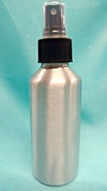 4 oz Silver ALUMINUM Fine Mist Spray Bottle Sprayer Atomizer Salon Spa H... - $5.61