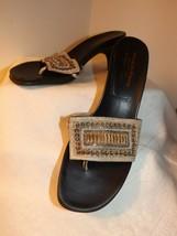 DONALD J PLINGER Italian Made Women's Leather Kitten Heeled Sandal's Siz... - £23.27 GBP