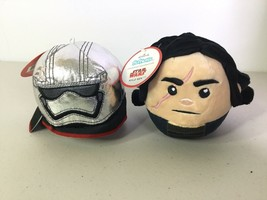 Hallmark Fluffballs Star Wars Kylo Ren Phasma Plush Ornament Decorations... - $12.61