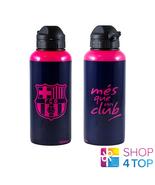 FC BARCELONA ALUMINIUM WATER BOTTLE PINK OFFICIAL FOOTBALL SOCCER CLUB T... - $27.08