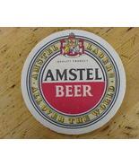 Coaster Amstel Beer Lager One Mat Vintage 80s  - $0.99