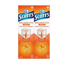 5 Bottles x Scott's Emulsion Cod Liver Oil Orange Flavor 400ml FAST SHIP... - $83.89