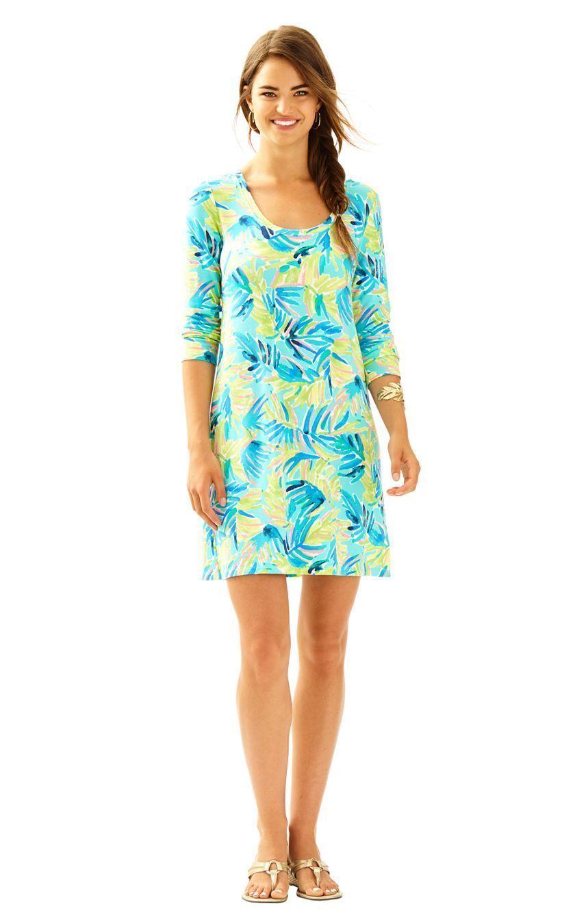 NEW Lilly Pulitzer Multi Serenity Now Devon A-Line Dress Size XS NWT Green Blue