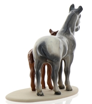 Hagen-Renaker Miniature Ceramic Horse Figurine Appaloosa Mare and Colt on Base image 5
