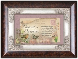 Cottage Garden Daughter Sending You Wishes Burlwood Jewelry Music Box Pl... - $36.08