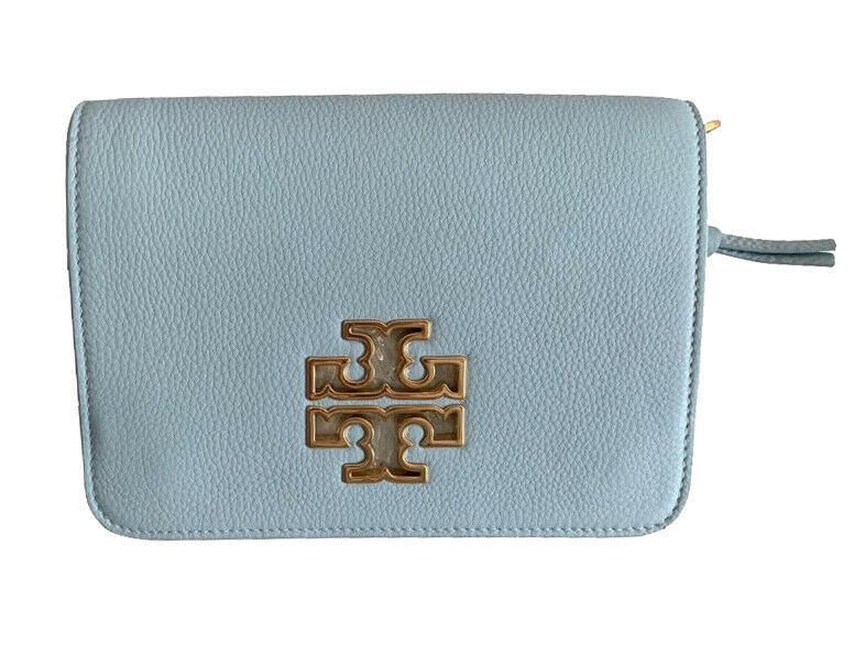 Tory Burch Women's Britten Combo Crossbody Bag, Seltzer, OS, 8978-6