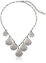 "Vine Filigree Teardrop Collar Necklace, 16"" + 3... - $17.69"