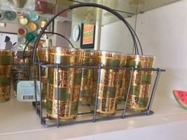 """New by Target Metal 6 Tall Glasses Holder Drink-ware Carry Caddy Only 10.5"""" - $14.99"""