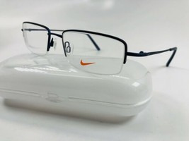 New NIKE 8179 410 Satin Navy Eyeglasses 55mm with NIKE Case - $74.20