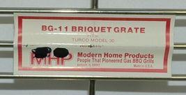 Modern Home Products BG11 Briquet Grate Turco Model 30 Color Chrome image 3