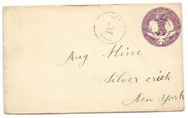 1893 Ney, OH Vintage/Silver Creek, NY Defunct Post Office Postal Cover - $9.95