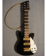 "BLACK 4"" RICKENBACKER BASS GUITAR TYPE HOLIDAY ORNAMENT NEW - $9.26"