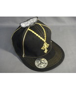 BLACK AND GOLD COLOR FLEX FIT CROSS THEME WIDE BRIM BASEBALL CAP NEW - $7.50