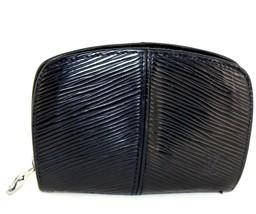 Auth Louis Vuitton Black Epi Leather Pochette Coin Case Coin Folder Purse VI1929 - $127.71