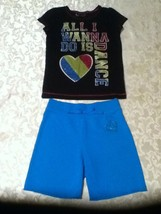 Girls-Lot of 2-Size 6-Total Girl-top-Size 6-6X-Total Girl short set-blue... - $13.75