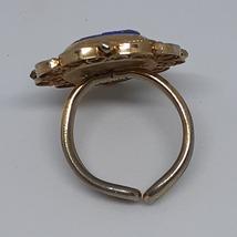 Micro Mosaic Ring Cobalt Royal Blue Vintage 40's - 50's image 2