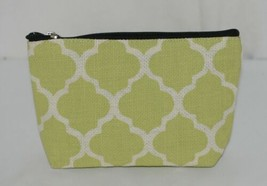 Ganz Style 101 ER32114 Lime Green White Geometric Design Cosmetic Bag image 2