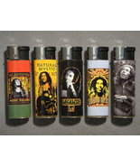 BOB MARLEY GET UP STAND UP RASTA REFILLABLE CIGARETTE LIGHTERS SET OF 5 NEW - $9.26