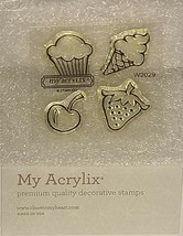 Close to My Heart With Toppings Petite Perks Clear Cling Stamp Set #W2029 - $2.99