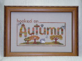 Hooked On Autumn charms + cross stitch chart Handblessings - $10.80