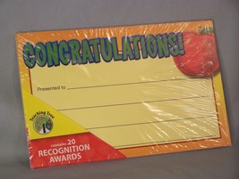 """Congratulations! Awards, 20 Count, Approx 8.5"""" X 5.5"""" - $3.38"""