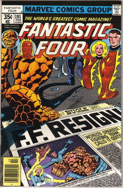 Primary image for Fantastic Four Comic Book #191 Marvel Comics 1978 FINE-
